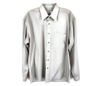 Yves Saint Laurent Gray Men's Dress Shirt.…